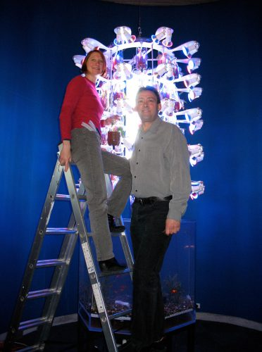 Amy and Ken installing  the museum version in Te Papa Tongarewa, Wellington, New Zealand