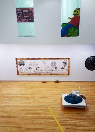 Telegarden by Ken Goldberg, Robot Landscape by Trademark G, Pixellation by Lillian Schwartz, Handicapped Person by Tucker Marder.